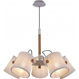 Colgante 5 Luces SERIE NORDICA II ACABADO White-Wood