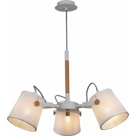 Colgante 3 Luces SERIE NORDICA II ACABADO White-Wood