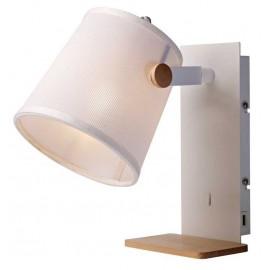 Aplique 1 Luz & USB output SERIE NORDICA II ACABADO White-Wood
