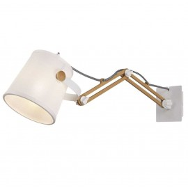 Aplique 1 Luz SERIE NORDICA II ACABADO White-Wood