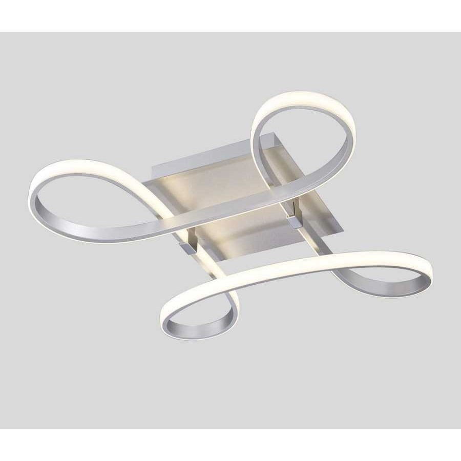 Plafon Led SERIE KNOT LED ACABADO Silver-Chrome