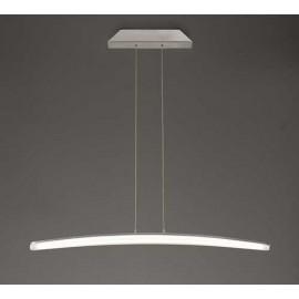 Lampara 1 Luz SERIE HEMISFERIC ACABADO Satin Aluminium