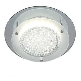 Lampara ventilador con luz 106cm y control remoto modelo KLAR marron. Aspas reversibles y plafon de cristal opal.