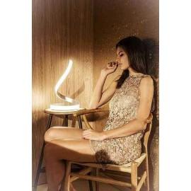 Promoción en Lámpara Aplique Zoraida Camel 1 luz 16x33