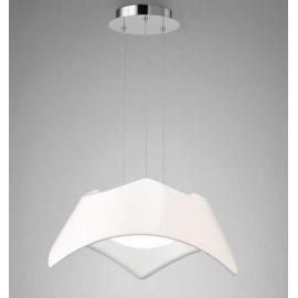 Colgante 3 Luz SERIE MAUI ACABADO White Lacquer-Chrome