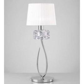Lámpara Aplique Serie Amazonita Nergra/cromo 1luz 23x16