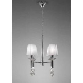 Lámpara Aplique Eiffel Rosa 1luz 18x30d