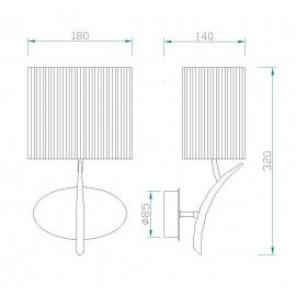Lámpara Aplique Serie Dibujos Celeste 1luz  17x30D
