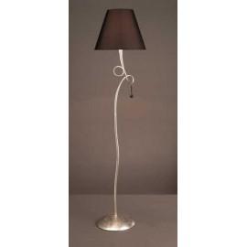 Lámpara Pie Salón Capri Cuero 1luz  (165x73)