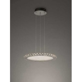 Lámpara Sobremesa Serie Pensilvania Plata/cromo 1luz  54x28d