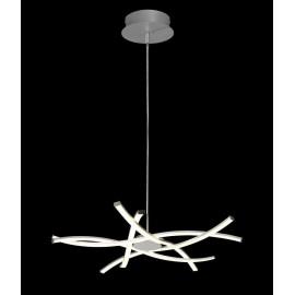 Lámpara Pie Salón Serie Toscana Blanco/blanco 1luz  156x35d