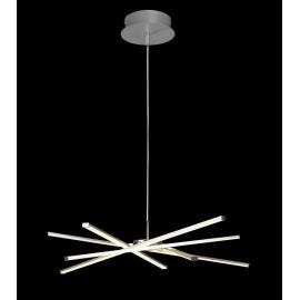 Lámpara Pie Salón Serie Toscana Plata/blanco 1luz  156x35d