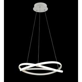Lámpara Colgante Grand. Quebec 5 luces Blanca Reptil Regx60d
