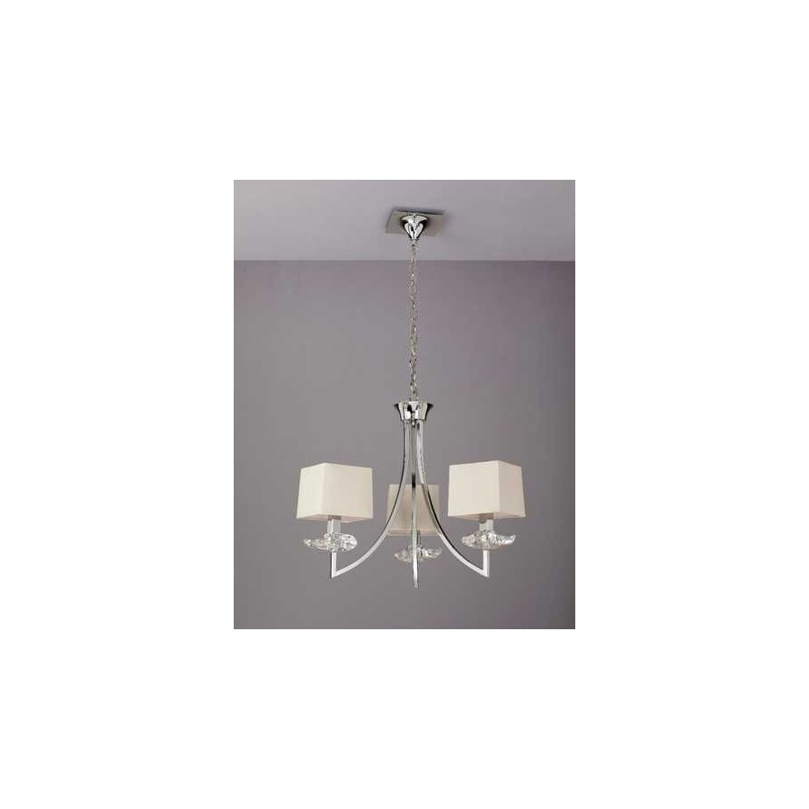 Venta de l mpara tenerife cromo blanca 5 luces 50x42 - Lamparas tenerife ...