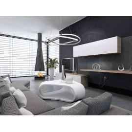 Venta de Lámpara Aplique Rústico 2 luces 60w Negro (25x24,5)