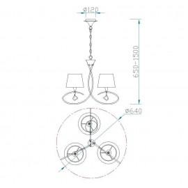 Original Lámpara Farol Granadino Hexagonal Opalina 1luz 28x20