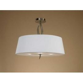 Lámpara Aplique 3 Caras 1 Luz Ambar/cuero 36x17