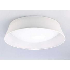 Lámpara Colgante 4 Caras 1luz  Ambar/cuero 39x17