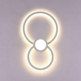 Lámpara Barata Downlight Sup. Cuadrado 2 luces Cuero 25x25