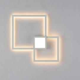Lámpara Downlight Sup. Cuadrado 2 luces Níquel 25x25