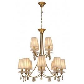 Lámpara Forja Oro Viejo 6 luces 55x83