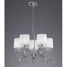 Lámpara Plafón Serie Corona Cristal 9 luces
