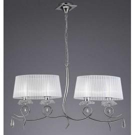 Original Lámpara Colgante Serie Corona Cristal 9 luces