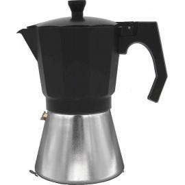 Cafetera 9 tazas MOKKA INDUCTION Bastilipo negro-aluminio