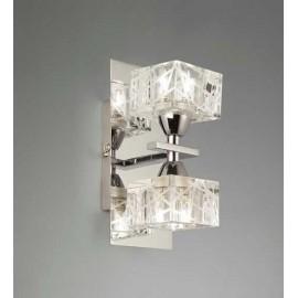 Plafon Kegan Cristal 3xg9 Cuero 18x38