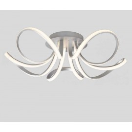 Lámpara Pie Salón Espiral Marrón 1luz 166x55