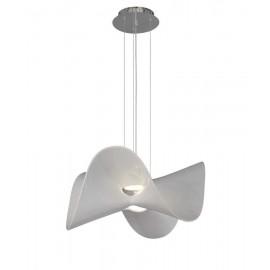 Económica Lámpara de Sobremesa Espiral Blanco 1luz 35x20