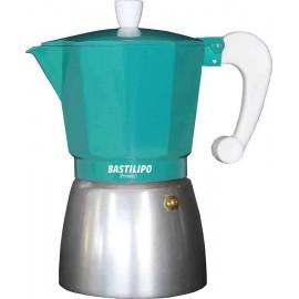 Cafetera aluminio COLORI ESMERALDA 9 tazas Bastilipo