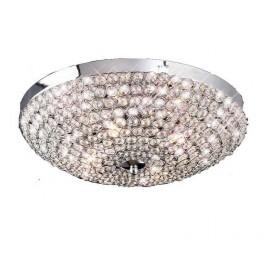 Lámpara Plafón Tallinn Cromo/cristal Led 11w 940lm 4000k 14x30d