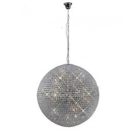 Lámpara Plafón Kiev Cromo/cristal Led 18w 1530lm 4000k 17x30x30