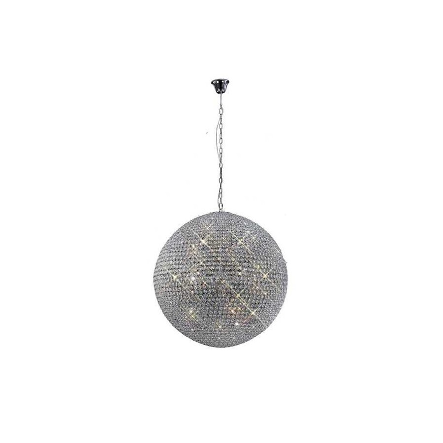 Lampara 18 Luces SERIE CRYSTAL LED G9 BALLS ACABADO Chrome