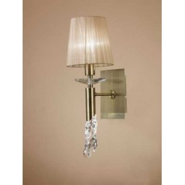 Aplique 1 Luz SERIE TIFFANY ACABADO Antique Brass