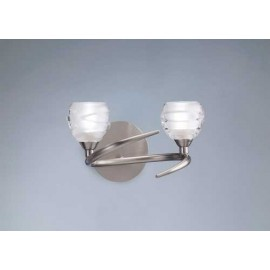 Aplique 2 Luces SERIE LOOP ACABADO Satin Nickel