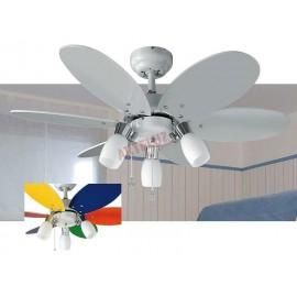 Ventilador de techo 92cm, oferta colección tones blanco  con luz.