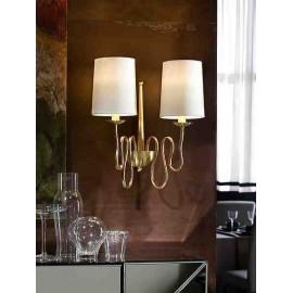 Aplique oro modelo BRIANA de Schuller, 2 luces