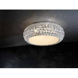 Lámpara Marsella 5 luces Cuero 40x57d