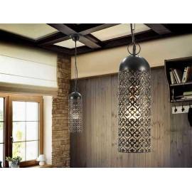 Lámpara de Sobremesa Rosario Cromo/transparente 1luz  37x18