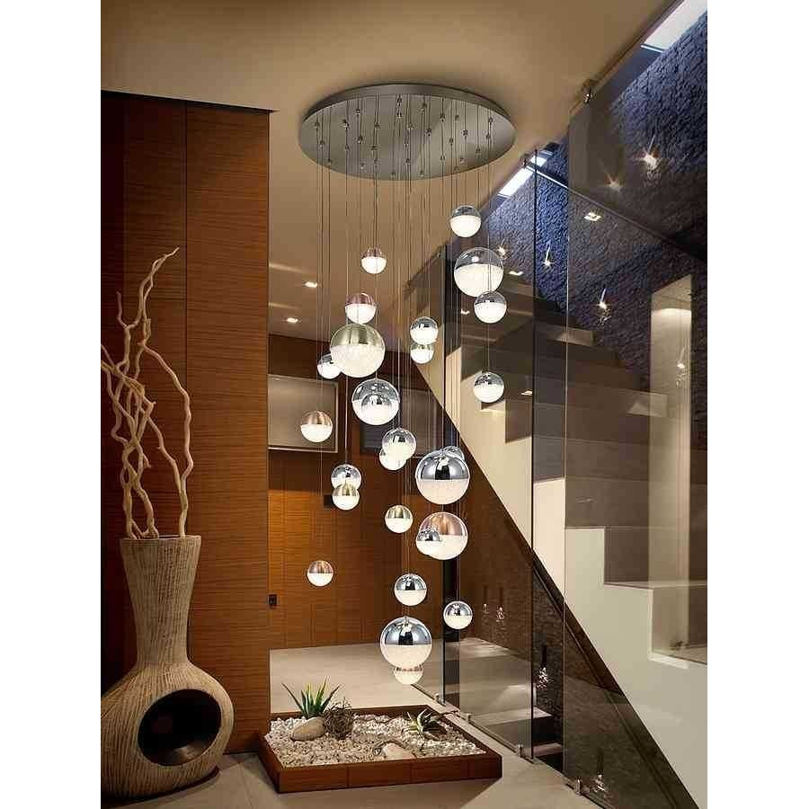 Lampara 27 l. SPHERE LED, cromo.