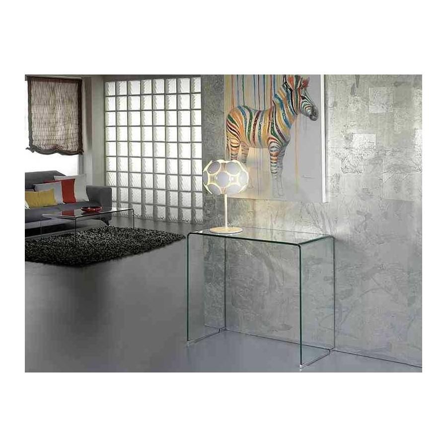 CONSOLA CRISTAL MODELO GLASS 90 CM.