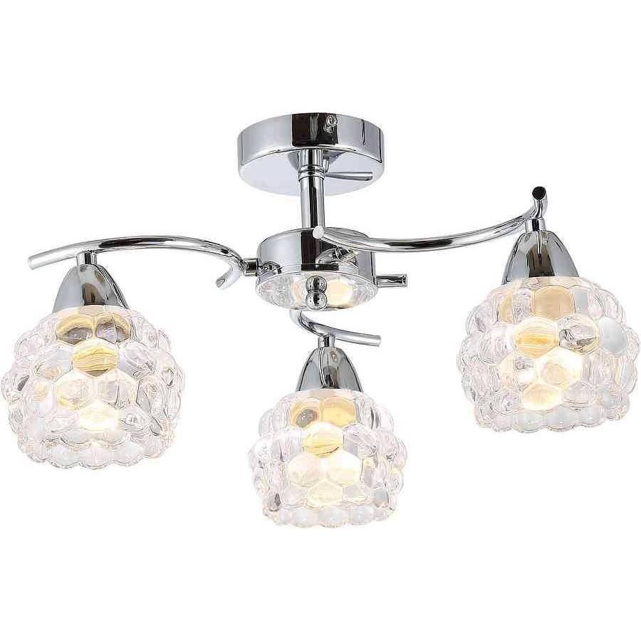 Comprar plafon cromo-cristal BUBBLES 3 luces