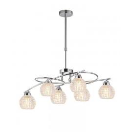 Oferta en Lámpara Colgante Detroit Blanco/cromo 3 luces