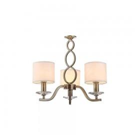 2830-3-CU LAMP. 3L SERIE ROCIO 3XE14 CUERO (A125)