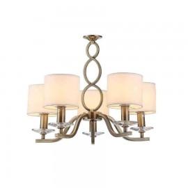 2830-5-CR LAMP. 5L SERIE ROCIO 5XE14 CROMO