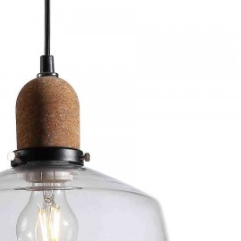 Lámpara Colgante Plasencia Blanco 1Luz 30D.