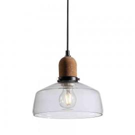 Lámpara Colgante Plasencia Negro 1Luz 30D.