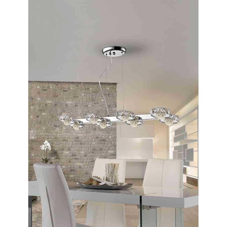 Lampara Schuller para comedor modelo SURIA LED 8 luces